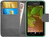G-Shield Hülle für Nokia Lumia 530 Klapphülle mit Kartenfach - Grau