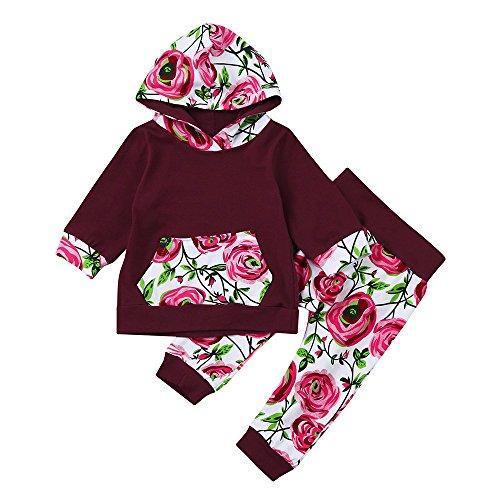 Beikoard 2 Stück Baby Born Kleidung Baby Hoodie Kinderkleidung Set Schlafanzug Hoodies Kleinkind
