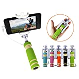 #10: ARISIDH Premium Quality Selfie Stick Mini With AUX cable and Rubber Grip for Android, Apple and Windows Mobile Phones Available in Multicolors.
