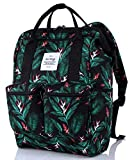 HotStyle DISA Mochila Floral Vintage Mujer para Notebook 14-Inch (44x27x17cm), Negro