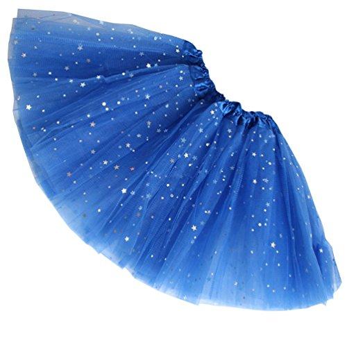 Kostüm Star Rock Tanz - Reciy Sparkle für Mädchen Prinzessin Ballett Dance Layered Tüll Tutu Röcke, 2-8T, königsblau