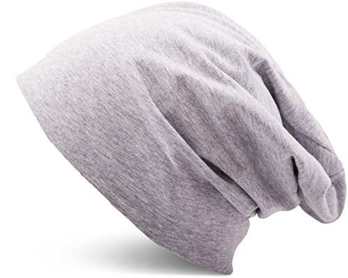 9f39ce999f23f6 Jersey Baumwolle elastisches Long Slouch Beanie Unisex Mütze Heather in 35  verschiedenen Farben (3)