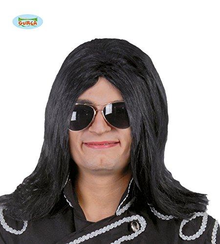 King of Pop Perücke in schwarz für Herren