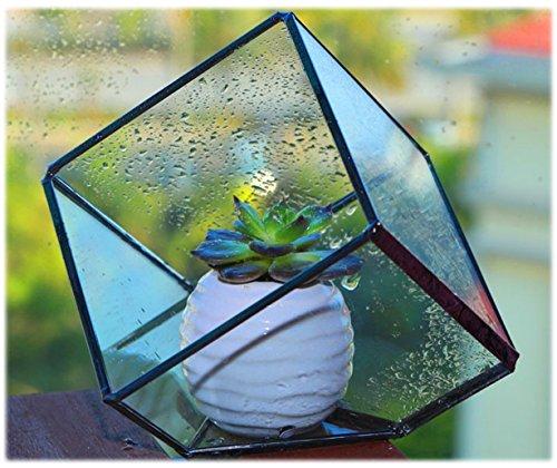 Uniifurn Handmade Clear Glass Plant Terrarium, Tabletop Succulent Planter, also Perfect for Decorative Candle Holder Tea Light Holder
