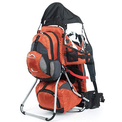 Imagen para Montis Hoover - Mochila portabebés (carga máxima de 25 kg), color naranja
