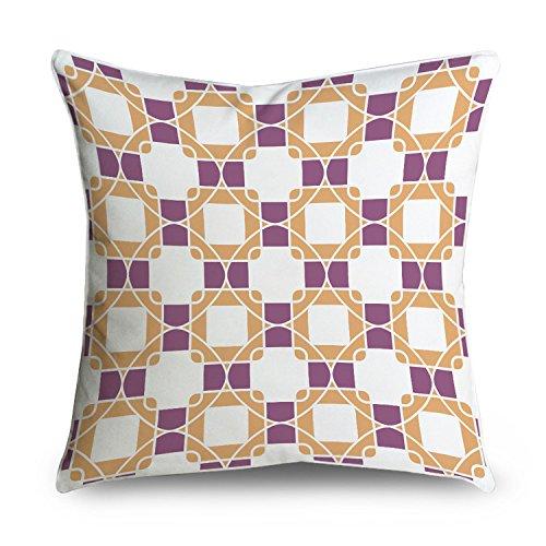 fabricmcc lila, und Kreis Kette Link Kreise Muster Dekorativer Überwurf-Kissenbezug Kissenbezug, quadratisch 18x 18 -
