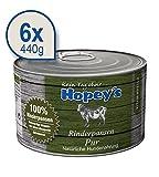 Hopey's Hundefutter: Rinderpansen Pur 6x 440g Dosen, getreidefreies Nassfutter für Hunde