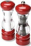 Die besten Olde Thompson Pfeffermühlen - Olde Thompson Pfeffermühle & Salzstreuer SET, 17,8cm, rot/transparent Bewertungen