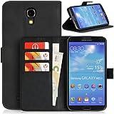 Donzo Wallet Wild Style Tasche für Samsung Galaxy Mega 6.3 GT-I9200/GT-I9205 mit Kreditkartenfächer und Standfunktion schwarz
