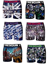 6 Boxers Freegun Collection Effet 3D FG23 Homme