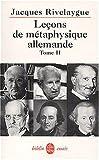 Leçons de métaphysique allemande, tome 2