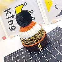 Aclth Chicos de Invierno para niñas Sombrero de niño Sombrero de Punto de Invierno Muchachos de niños Sombrero de Gorro de Punto cálido para Actividades de Snowboard al Aire Libre (Color : Marrón)