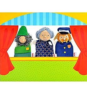 Goki 51591 - Teatro para Marioneta De Dedo II (Inc3 Muñecos) (+3 Años)