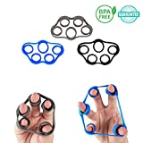Grip Strength Trainer - Finger Stretcher and Finger Strengthener Resistance Bands, Improving Hand Finger and Forearm Strength Designed for Athletes, Rock Climbing, Musicians and Carpal Tunnel Therapy