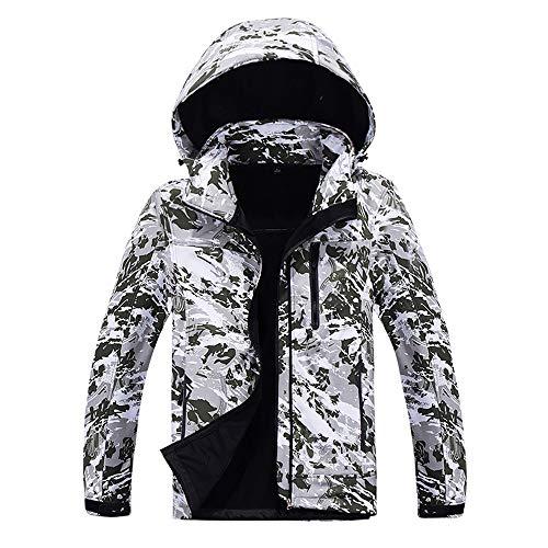 Odjoy-fan-uomo inverno vello all'interno di camuffare guscio morbido all'aperto giacche cappotto jacket down puffer giacca foderato pile incappucciato piumino collare di pelliccia addensato