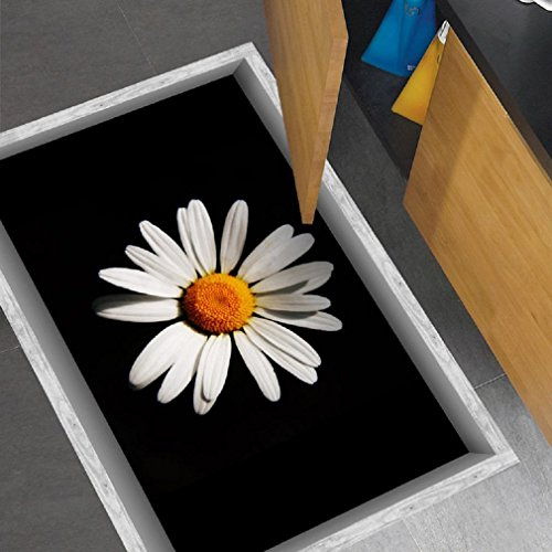 GAOJIAN 3D non-dérapant autocollants décoratifs autocollants magasin de fleurs étage salle de bain étanche stickers portables feverfew chambre apposé grandir 35,4 en haute 22.8in