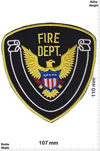 Patch-Iron-Fire Department - USA - Feuerwehr - - Police - Police - Iron On Patches - Aufnäher Embleme Bügelbild Aufbügler