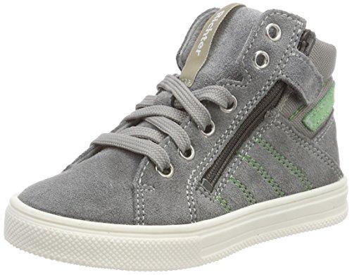 Richter Kinderschuhe Jungen Ola Hohe Sneaker, Grau (Rock/Verde), 26 EU