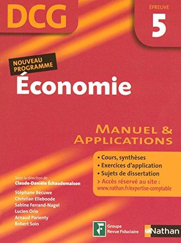 Economie Epreuve 5 - DCG - Manuel et app...