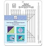 June Tailor - Regla para hacer triángulos para costura y bordados, 26,7 x 31,8 cm, secciones en pulgadas