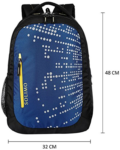 Best backpack brands in India 2020 Amazon Brand - Solimo Laptop Backpack for 15.6-inch Laptops (29 litres, Midnight Blue) Image 5