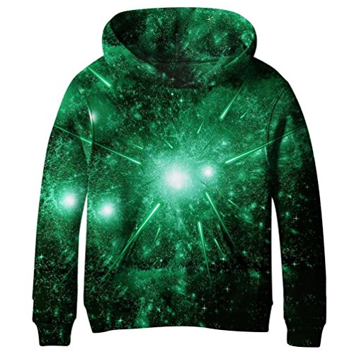 Euro Sky Boys Girls Kids Blue Galaxy Pockets Sweatshirts Hooded Hoodies