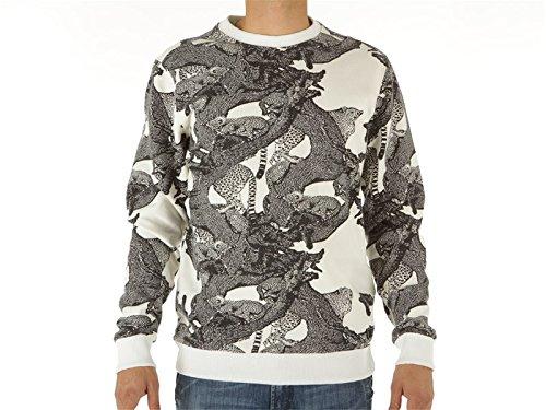 Iuter, Uomo, Full Print Crewneck Sweatshirt, Poliestere, Felpe, Bianco, L EU