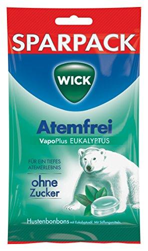 WICK Atemfrei Eukalyptus ohne Zucker, 12er Pack (12 x 115 g)