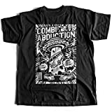 A002-220 Combi Abduction Herren T-Shirt Alien UFO Save Your Combi They Come Comics Space Geek Classic(Small,Black)