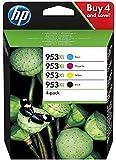 HP 953XL pack de 4 cartouches d'encre noire/cyan/magenta/jaune haute capacité authentiques (3HZ52AE)