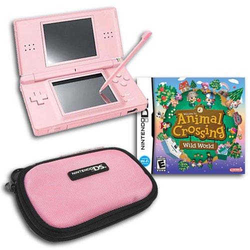 Nintendo DS Lite (Rose) + Animal Crossing: Wild World et Officiel Housse de Transport-Ensemble Cadeau