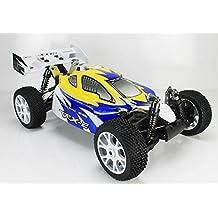 VRX Racing - Coche RC VRX-2 Buggy 1/8 Nitro 4WD R.T.R.Amarillo - RH802-45