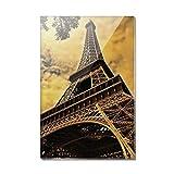 Eiffelturm Paris VINTAGE Rechteck Acryl Kühlschrank Kühlschrank Magnet