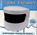 Good Ideas Sonic Denture Cleaner Cleans dentures professionally.