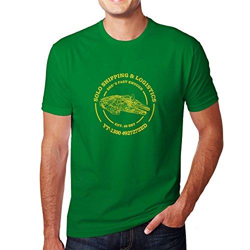 (Solo Shipping & Logistics - Herren T-Shirt, Größe: L, Farbe: grün)