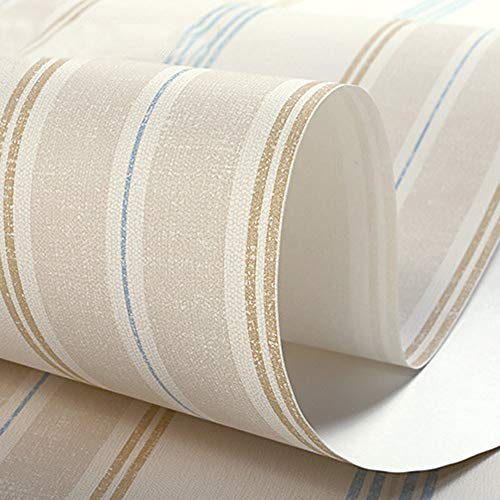 Die Aktive Faser-pulver (DOLDT1 Vintage britische Windtapete Kinder Schlafzimmer Tapete Vlies elegante Phase Seidentapete Streifen warm wasserdicht Feuchtigkeit (Color : Yellow blue))