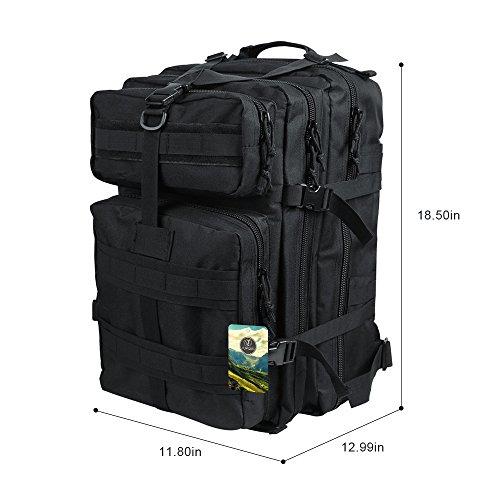 Imagen de topqsc  militar táctica impermeable de moda 45l para excursionismo montañismo y viaje al aire libre  deportiva de alta calidad 5 colores  negro 45  alternativa