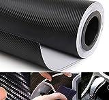 Best Car Decals - Bluelans® 3D Carbon Fiber Black Vinyl Film Sheet Review