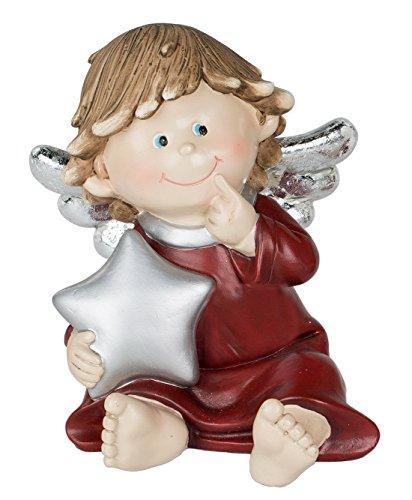 Engel Dekoengel mit Stern Schutzengel Engelfigur Skulptur Weihnachts Deko Figur