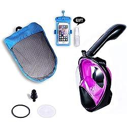 Masque-Tuba de plongée intégral, Masque de Surface antibuée et antifuite pour débutants et Amateurs de plongée