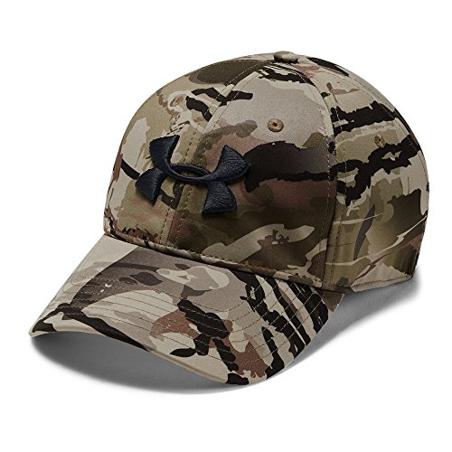 Under Armour UA Camo Stretch Fit Cap, Herren, Ua Barren Camo/Charcoal/ Black, S/M Stretch-fit-camo