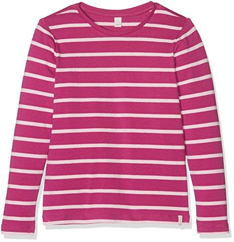 ESPRIT Mädchen Langarmshirt RK10103, Violett (Plum 871), 128 (Herstellergröße: 128+)