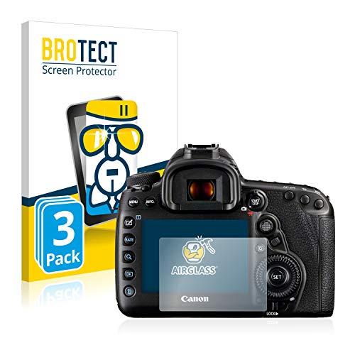 BROTECT Panzerglas Schutzfolie kompatibel mit Canon EOS 5D Mark IV (3 Stück) - AirGlass, 9H Härte, Anti-Fingerprint, HD-Clear