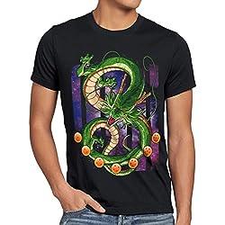 style3 Shenlong Dragón Camiseta para Hombre T-Shirt Shenron Z Goku Vegeta Roshi Ball, Talla:M