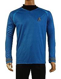 FUMAN Star Trek Uniform Spock Shirt Cosplay Kostüm Blau