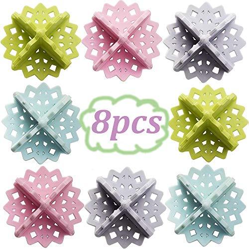 Bolas de Secadora Reutilizables - WENTS 8pcs Bolas de plástico para Colada Lavadora Lavandería Suavizante...