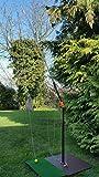 Golf üben zu Hause mit Golf Range-Angel mit Fußplatte ohne Angelrolle Golftraining Golfschwungtrainer Golfschlagtraining Golf-Abschlagtrainer Golf-Schwungtrainer Golfschlag Golf-Heimtrainer Golf-Training Golf-Trainingsgerät Golf-Übungsgerät