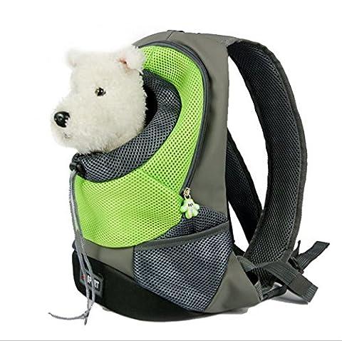 Petit chien chat porte-animaux sac à dos sac de voyage sac à main portatif pour jogging en plein air randonnée pédestre , m