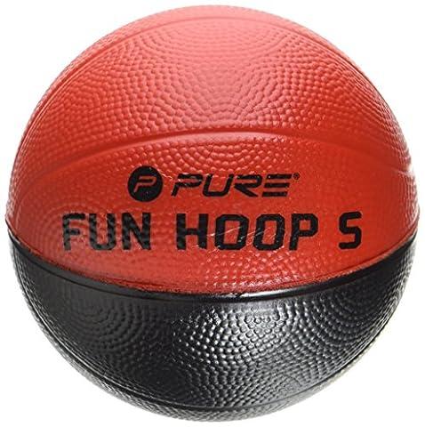 Pure2Improve Fun Ballon de Basketball Mixte Adulte, Noir/Rouge