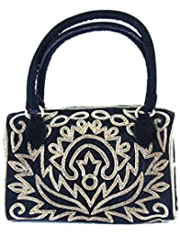 SAISHA Women's Handbag (Black::Gold) (SHB0002)